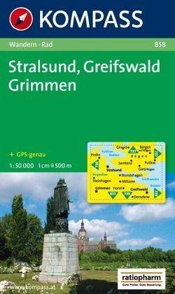 Stralsund Karte.Kompass Karte Stralsund Greifswald Grimmen