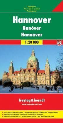 Freytag & Berndt Stadtplan Hannover; Hanóver; Hanover; Hanovre