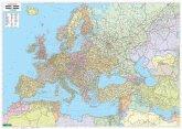 Freytag & Berndt Poster Europa, Naher Osten, Zentralasien politisch, ohne Metallstäbe; Europe, Middle East, Central Asia