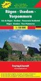 Freytag & Berndt Autokarte Rügen, Usedom, Vorpommern; Isla de Rügen, Usedom, Pomerania Occidental; Rügen, Usedom, Voor-P