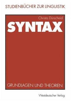 Syntax - Grundlagen und Theorien