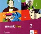 Musik live. Für den Unterricht an allgemeinbildenden Schulen. 4er Audio-CD-Box zum Schülerbuch 7.-10. Schuljahr