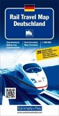 Kümmerly & Frey Karte Rail Travel Map Deutschland; Rail Travel Map Germany