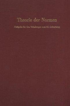 Theorie der Normen - Krawietz, Werner / Schelsky, Helmut / Winkler, Günther / Schramm, Alfred (Hgg.)