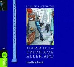 Harriet, Spionage aller Art, 3 Audio-CDs - Josefine Preuß
