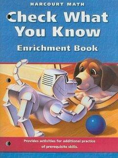 Harcourt Math Check What You Know Enrichment Book, California, Grade 3