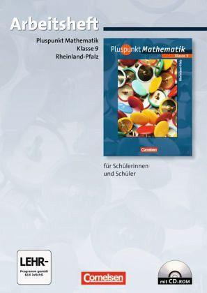 Pluspunkt Mathematik 9. Schuljahr. Arbeitsheft Rheinland-Pfalz - Merz, Patrick; Merz, Kristin; Jong, Klaus; Hinz, Regina; Felsch, Matthias; Baumgärtner, Hartmut; Bamberg, Rainer