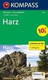 Kompass Karte Harz, 2 Bl. m. Kompass Naturführer Wiesenblumen