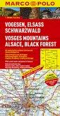 Marco Polo Karte Vogesen, Elsass, Schwarzwald; Vosges Mountains, Alsace, Black Forest; Massif des Vosges, Alsace, Foret