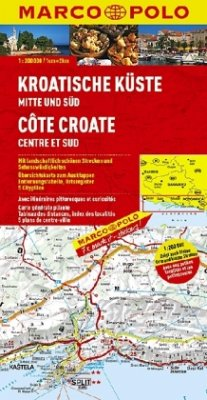 MAIRDUMONT - Die Generalkarte Kroatische Küste Mitte und Süd 1:200 000