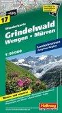 Hallwag Outdoor Map Grindelwald, Wengen, Mürren