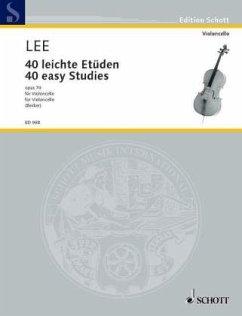 40 leichte Etüden in der ersten Lage op.70, Violoncello