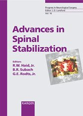 Kapitel 0 von Advances in Spinal Stabilization (Progress in Neurological Surgery) (eBook Kapitel)
