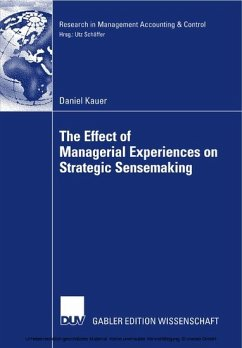 The Effect of Managerial Experiences on Strategic Sensemaking (eBook) - Daniel Kauer
