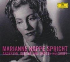 Marianne Hoppe spricht, 1 Audio-CD - Andersen, Hans Christian; Goethe, Johann Wolfgang von; Droste-Hülshoff, Annette von