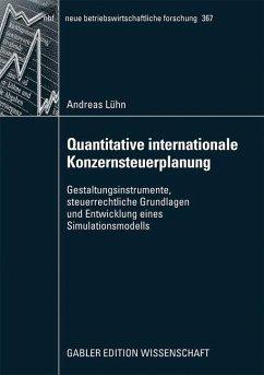 Quantitative internationale Konzernsteuerplanung