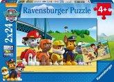 Ravensburger 09064 - Paw Patrol, heldenhafte Hunde, 2x24 Teile Puzzle