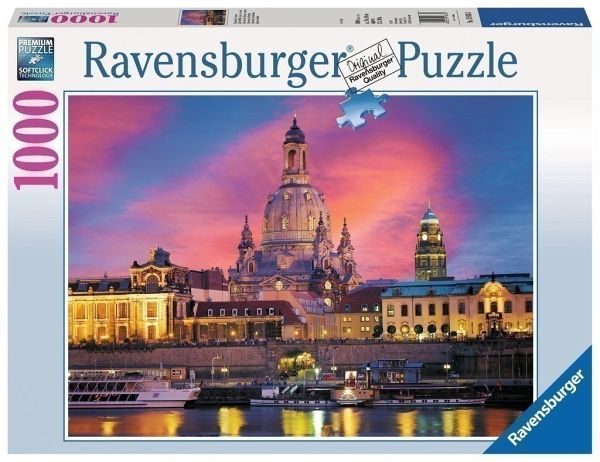 1000 Teile Puzzle Dresden Canaletto BlickRavensburger 19619Panoramapuzzle Puzzles & Geduldspiele
