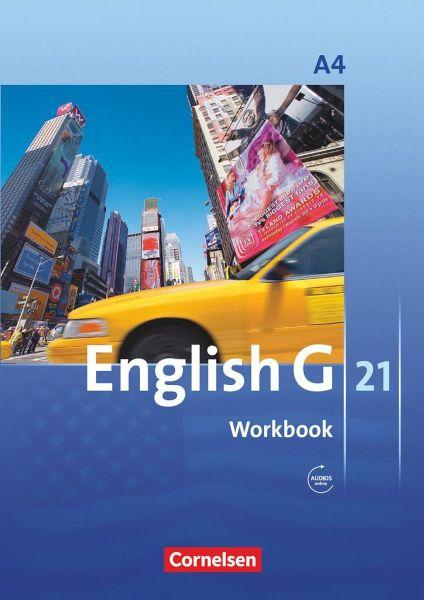 english g 21 ausgabe a 4 workbook mit audios online von. Black Bedroom Furniture Sets. Home Design Ideas