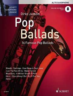 Pop Ballads, für Alt-Saxophon, Einzelstimme u. Klaviersatz, m. Audio-CD