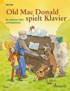 Old Mac Donald spielt Klavier, für Klavier