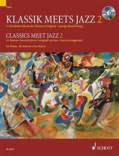Klassik meets Jazz, für Klavier, m. Audio-CD - Korn, Uwe