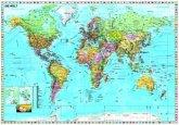 Stiefel Wandkarte Großformat Weltkarte (deutsch), ohne Metallstäbe