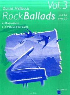 Rock Ballads, m. Audio-CD, für Klavier