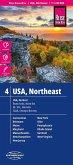 Reise Know-How Landkarte USA, Nordost; USA, Northeast; États-Unis, nord-est. EE.UU., noreste
