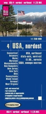 World Mapping Project USA, Nordost; USA, Northeast; États-Unis, nord-est. EE.UU., noreste