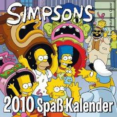 Simpsons Wandkalender 2010
