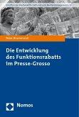 Die Entwicklung des Funktionsrabatts im Presse-Grosso
