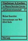 Untersuchungen zum Werk Alfred Bocks