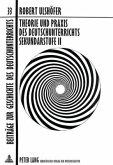 Theorie und Praxis des Deutschunterrichts Sekundarstufe II