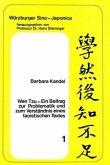 Wen Tzu- Ein Beitrag zur Problematik und zum Verständnis eines taoistischen Textes