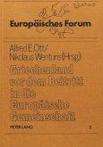 Griechenland vor dem Beitritt in die Europäische Gemeinschaft