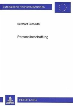 Personalbeschaffung - Schneider, Bernhard