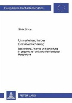 Umverteilung in der Sozialversicherung - Simon, Silvia