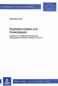 Realitätsvokabel und Rollendasein - Klotz, Christian
