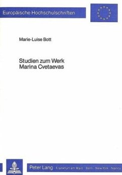Studien zum Werk Marina Cvetaevas - Bott, Marie-Luise