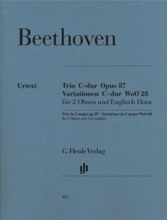 Trio C-Dur op.87 und Variationen C-Dur WoO 28, 2 Oboen und Englisch Horn, Einzelstimmen - Beethoven, Ludwig van