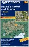 Tabacco topographische Wanderkarte Dolimiti di Auronzo e del Comelico