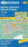 Tabacco topographische Wanderkarte Sextener Dolomiten; Dolomiti di Sesto