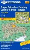 Tabacco topographische Wanderkarte Pragser Dolomiten, Enneberg; Dolomiti di Braies, Marebbe