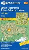Tabacco topographische Wanderkarte Schlern, Rosengarten, Sciliar, Catinaccio, Latemar