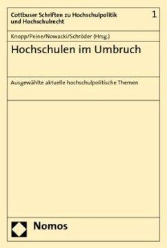 Hochschulen im Umbruch - Knopp, Lothar / Peine, Franz-Joseph / Nowacki, Konrad / Schröder, Wolfgang (Hrsg.)