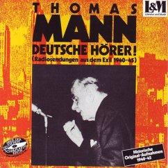 Deutsche Hörer, 1 Audio-CD - Mann, Thomas
