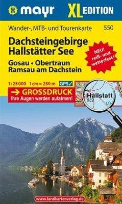 Mayr Karte Dachsteingebirge, Hallstätter See