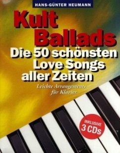 Kult Ballads, Songbook für Klavier, m. 3 Audio-CD