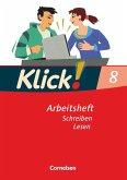 Klick! Deutsch 8. Schuljahr. Schreiben und Lesen. Westliche Bundesländer